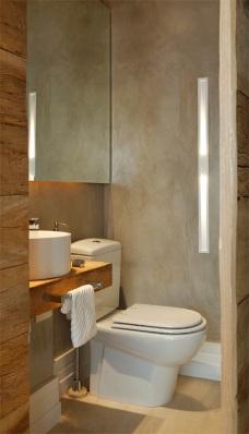 Resultado de imagem para banheiro pequeno cimento queimado