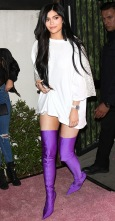 """LOS ANGELES, CA - APRIL 11: Reality TV Personality Kylie Jenner attends the """"PrettyLittleThing"""" campaign launch on April 11, 2017 in Los Angeles, California. (Photo by Paul Archuleta/WireImage for Fashion Media)"""