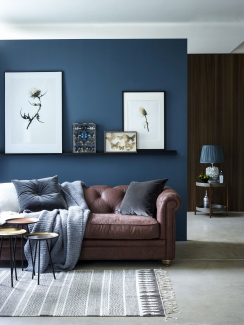blue living room decorating ideas Best of Add some brown vintage leather into your living room with the